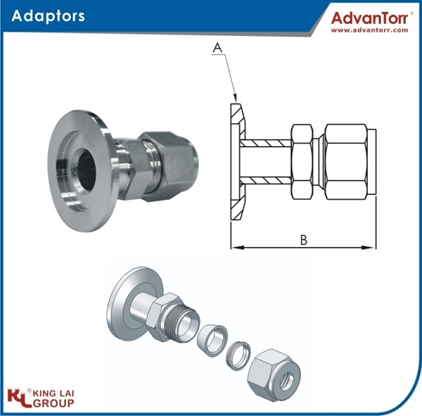 圖片 Flange to Two-Ferrule Adaptors